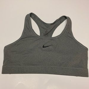 Nike Gray With Black Swoosh XL Sports Bra